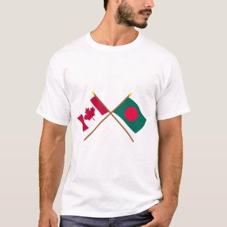 T-shirt Le Canada et les drapeaux croisés par Bangladesh