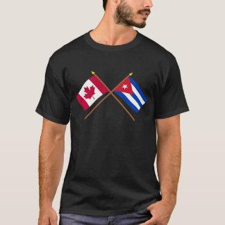 T-shirt Le Canada et les drapeaux croisés par Cuba