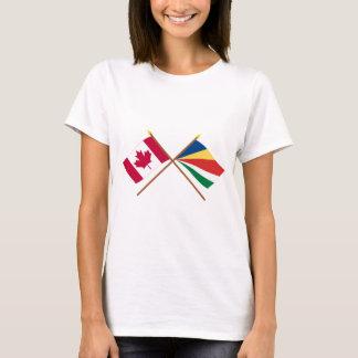 T-shirt Le Canada et les drapeaux croisés par Seychelles