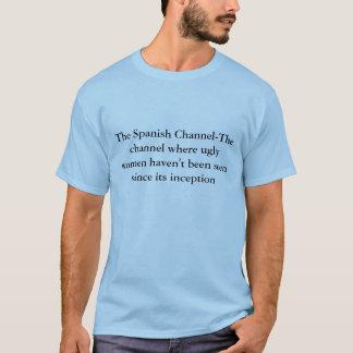T-shirt Le canal espagnol de Canal-Le où wome laid…