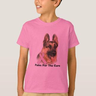 T-shirt Le cancer du sein de berger allemand badine la