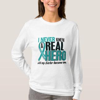 T-shirt Le Cancer ovarien N'A JAMAIS CONNU une soeur du