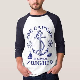 T-shirt Le capitaine est toujours - capitaine Funny -