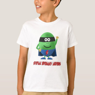 T-shirt Le caractère intelligent superbe d'haricots badine
