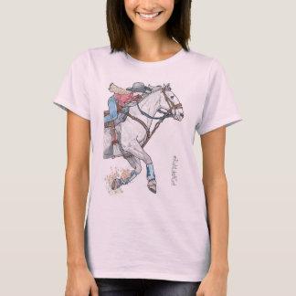 T-shirt Le cavalier de coureur de baril aiment une chemise