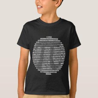 T-shirt Le cercle pi numérote la pièce en t