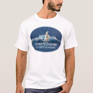 T-shirt Le CHANGEMENT CLIMATIQUE N'EST PAS un CANULAR