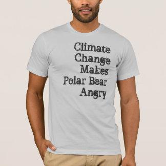 T-shirt Le changement climatique rend l'ours blanc fâché