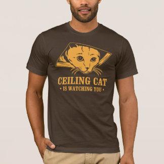 T-shirt Le chat de plafond vous observe