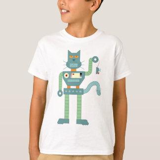 T-shirt Le chat de robot et enroulent la souris