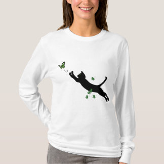 T-shirt Le chat et le papillon