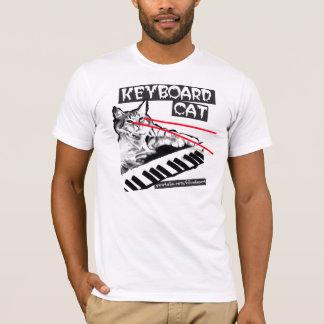 T-shirt Le chat Lazer de clavier observe la chemise !