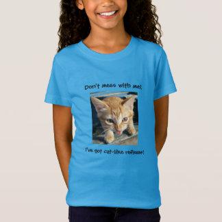 """T-Shirt Le chat tigré orange """"ne salissent pas avec moi !"""""""