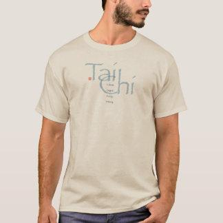 T-shirt Le Chi de Tai cultivent la pièce en t (bleue)