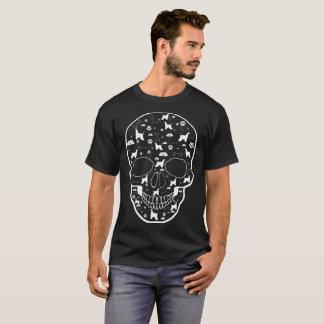 T-shirt Le chien de lévrier afghan dans le crâne choie le