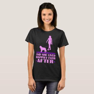 T-shirt Le chien et elle de St Bernard ont vécu