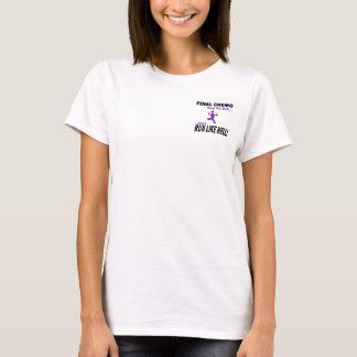 T-shirt Le chimio final courent beaucoup - le ruban violet