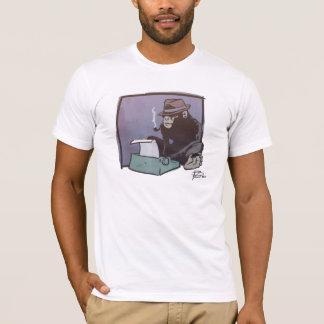 T-shirt Le chimpanzé peut verrouiller la chemise (blanc et