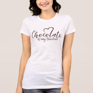 T-shirt Le chocolat est mon bien-aimé