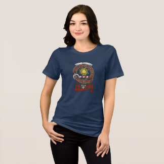T-shirt Le clan de Kerr Badge les femmes foncées