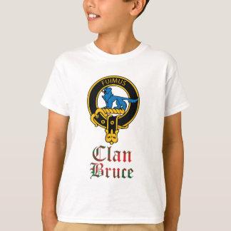 T-shirt Le clan écossais de tartan de crête de Bruce