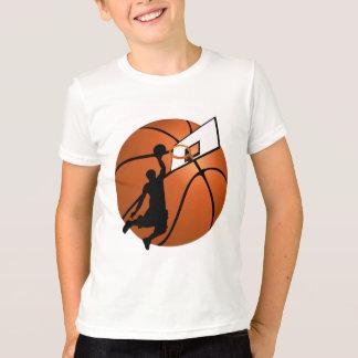 T-shirt Le claquement trempent le joueur de basket w/Hoop