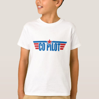 T-shirt Le co-pilote s'envole l'insigne - aviation