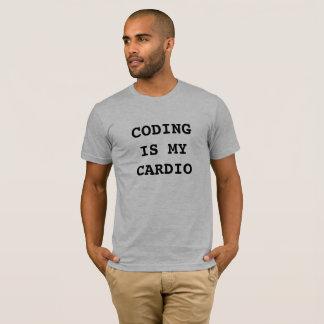 T-shirt Le codage est mon cardio-