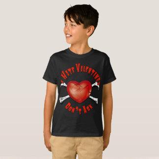 T-shirt Le coeur brisé de jour de Valentines de haine