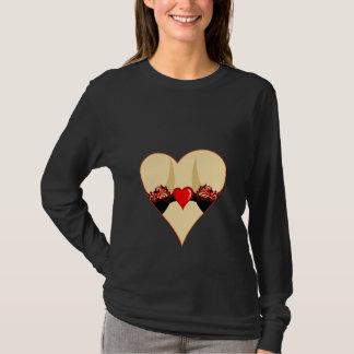 T-shirt le coeur de la femme