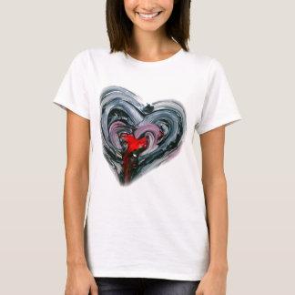 T-shirt Le coeur noir et rouge T REFONT