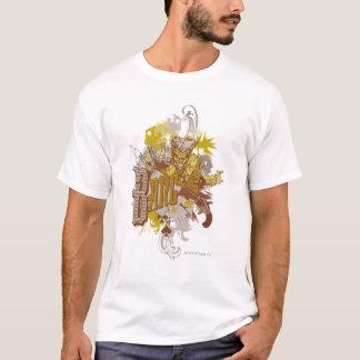 T-shirt Le collage de carnaval d'arme à feu/coup de joker