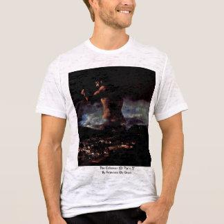 """T-shirt Le colosse (ou panique """")"""" par Francisco De Goya"""