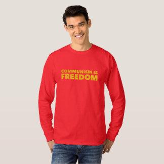 T-shirt Le communisme est des chemises de liberté
