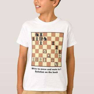 T-shirt Le compagnon d'échecs dans 1 puzzle #3 badine le