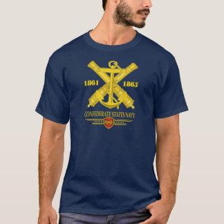 """T-shirt Le """"confédéré énonce la marine 2"""" des chemises"""