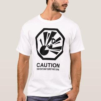 T-shirt Le contenu peut éclater dans la chanson