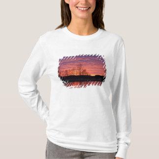 T-shirt Le coucher du soleil brillant se reflète dans la