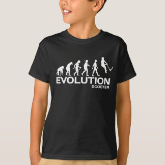 T-shirt Le coup-de-pied d'ÉVOLUTION de SCOOTER de cascade