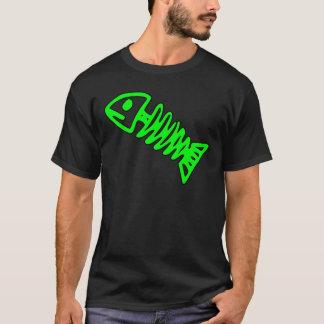 T-shirt Le crâne squelettique de poissons morts désosse le