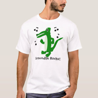 T-shirt Le crocodile ajoutent juste le texte