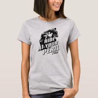 """T-shirt Le cru de coureur de café de """"péril"""" a dénommé le"""