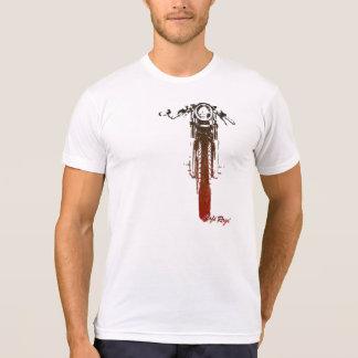T-shirt Le cru rouge frontal de coureur de café a dénommé