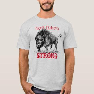 T-shirt Le Dakota du Nord fort avec le bison américain