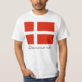 T-shirt Le Danemark avec Dannebrog