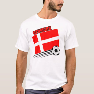 T-shirt Le Danemark - équipe de football
