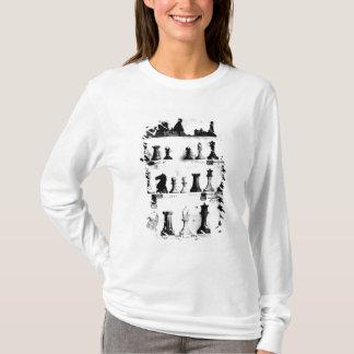 T-shirt Le dessin de brevet de pions de Staunton