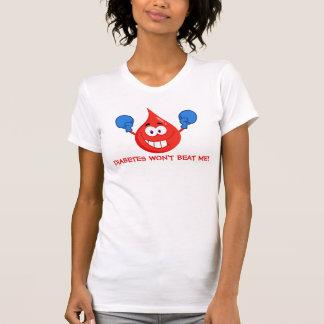T-shirt Le diabète ne me battra pas