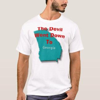 T-shirt Le diable est descendu à la Géorgie