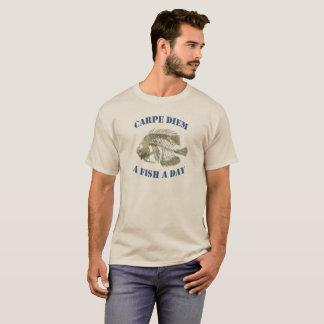 T-shirt le diem de carpe - un poisson par jour - poncez le